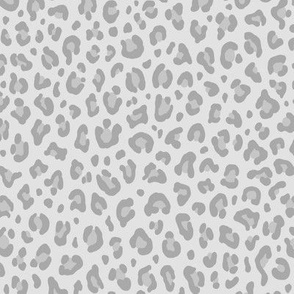 ★ LIGHT GRAY LEOPARD ★ Leopard Print in Neutral Gray - Small Scale / Collection : Leopard spots – Punk Rock Animal Print