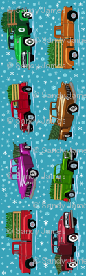 O Christmas truck tea towel