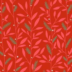 Festive Florals red