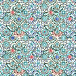 Stacks of China Plates Tile Mosaics