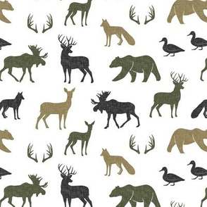 (small scale) woodland animals - C2 linen