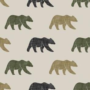 multi bears -  camo C2 on beige