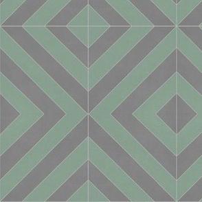 Green + Gray Zag