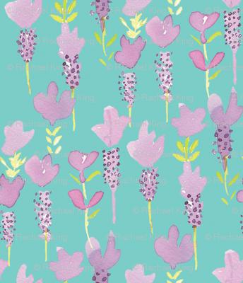 lavender turquoise