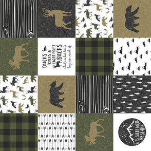 Happy Camper / Ducks, Trucks, and Eight Point Bucks - C2 Woodland Patchwork (90)