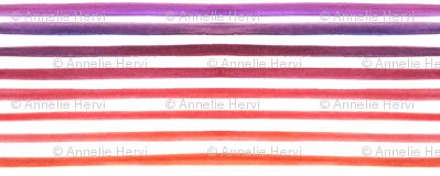 watercolor stripes purple orange horizontal