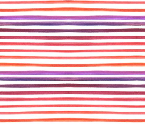 watercolor stripes purple orange horizontal fabric by mrshervi on Spoonflower - custom fabric