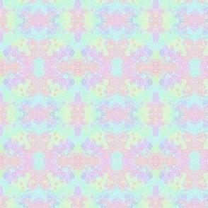 Pastel Rainbow Fizz on Blue