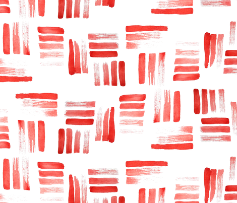 Beach stripes red fabric by mrshervi on Spoonflower - custom fabric