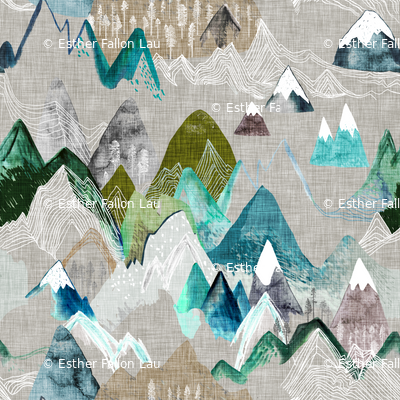 Call of the Mountains (olive) xxxsml
