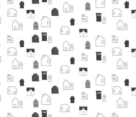 Houses fabric by mrshervi on Spoonflower - custom fabric