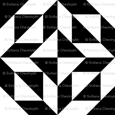 Geometric perfection, black and white