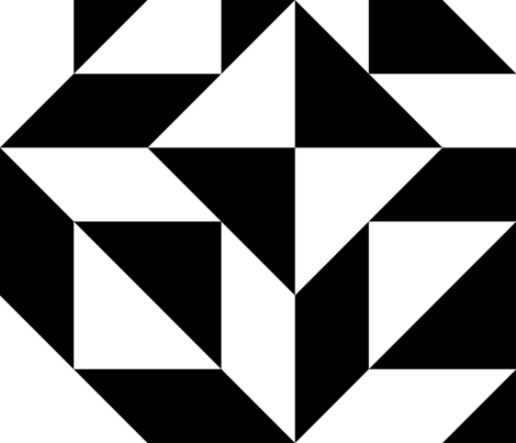 Geometric perfection, black and white fabric by slanapotam on Spoonflower - custom fabric