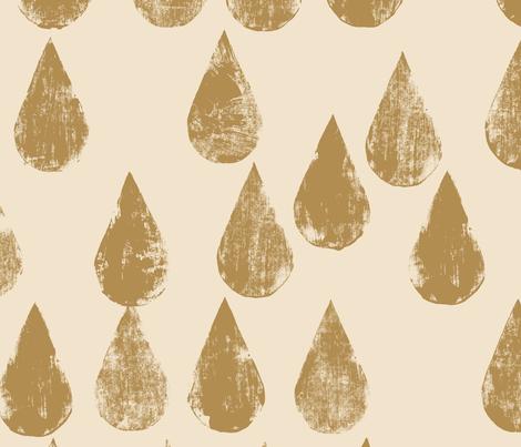 Golden drops fabric by juliaschumacher on Spoonflower - custom fabric