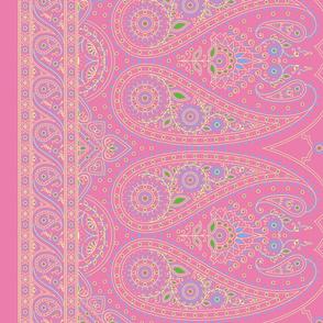 """60"""" Double-Edged Pink Sari Saree"""