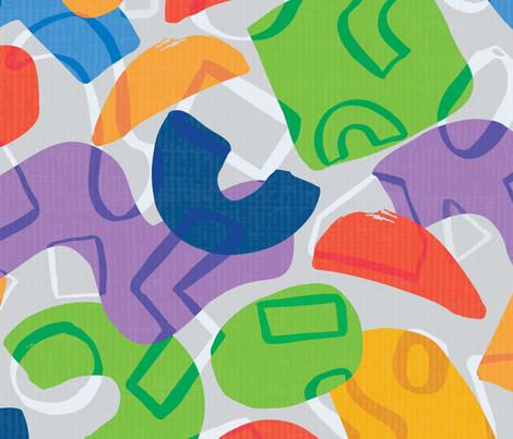 Big Paper Cutouts fabric by lisa_travis on Spoonflower - custom fabric