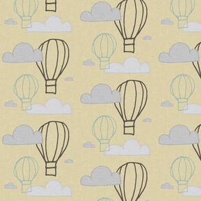 BUNNY AIR BALLOON YELLOW