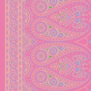 """56"""" Double-Edged Pink Sari Saree"""