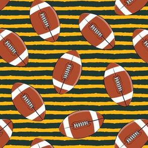 college football - gold and green stripes