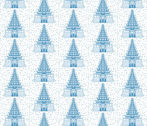 Chinoiserie Pagoda fabric by how-store on Spoonflower - custom fabric