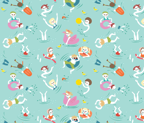 Pool Play fabric by colour_angel_by_kv on Spoonflower - custom fabric