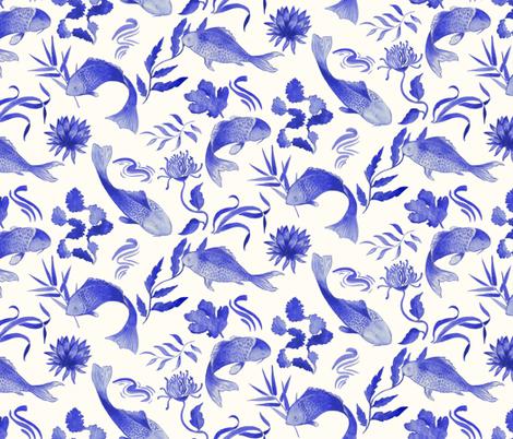 SEA_CHINOISERIE fabric by yasminah_combary on Spoonflower - custom fabric