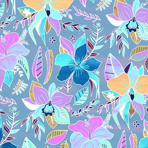Pastel Tropical Floral (Small Version)