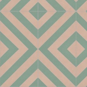Green + Pink Zag