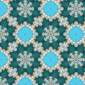 Blue fractal ornament