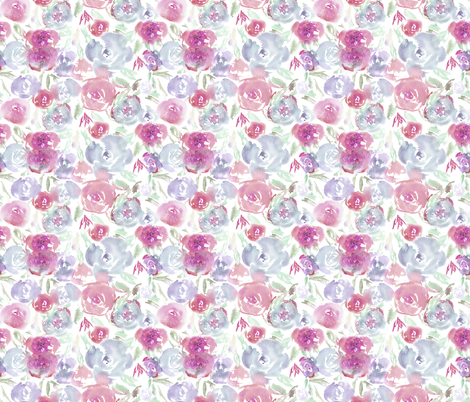Watercolor saturated flowers, smaller scale fabric by katerinaizotova on Spoonflower - custom fabric
