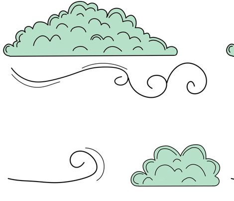 windy clouds (large scale) fabric by the_kitten_is_in on Spoonflower - custom fabric