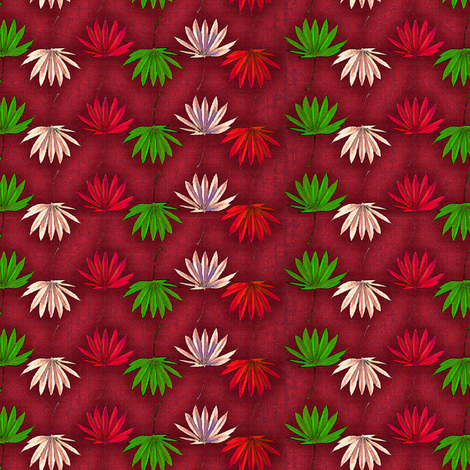 Marijuana Leaf Xmas fabric by camomoto on Spoonflower - custom fabric