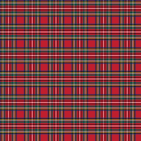royal stewart tartan style 1 extra small fabric by misstiina on Spoonflower - custom fabric