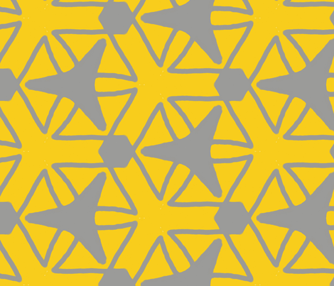 yellow grey rocket fabric by erin_mcclain_studio on Spoonflower - custom fabric