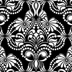 Blanco y Negro Arabesque Wallpaper