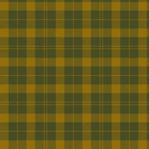 Barbie's Moss plaid - yellow and olive, 3""