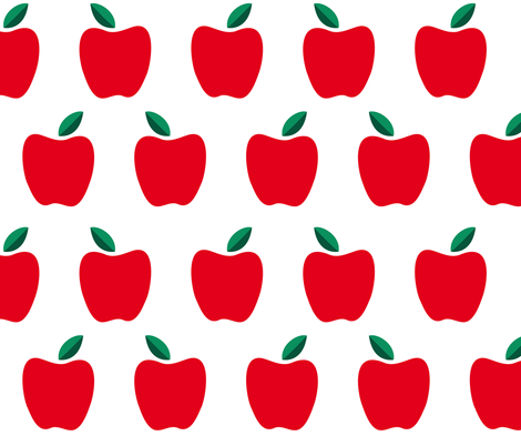 Red apples mod fabric by paperandpickles on Spoonflower - custom fabric
