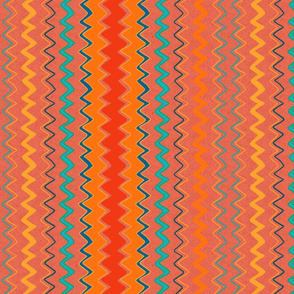 orange zigzag