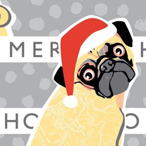 Christmas Pug fabric by Mount Vic and Me