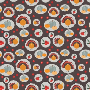 Brown Thanksgiving pattern