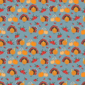 Grey Thanksgiving pattern