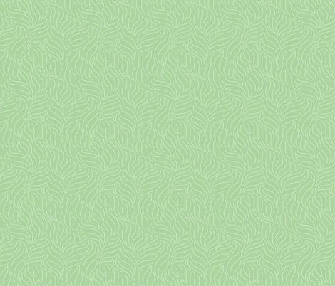 Simple Leaf Wave Pattern Light Green 11 Wallpaper