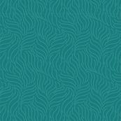 Simple Leaf Wave Pattern - Teal-12