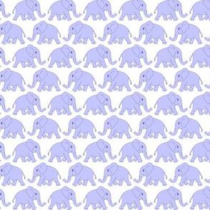 elephants walking - lilac
