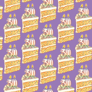30th Funfetti Birthday Cake - Purple