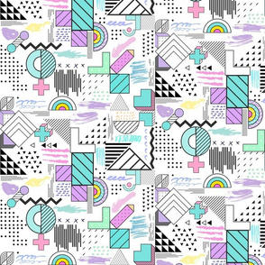 Geometric Chaos Pastel Doodles