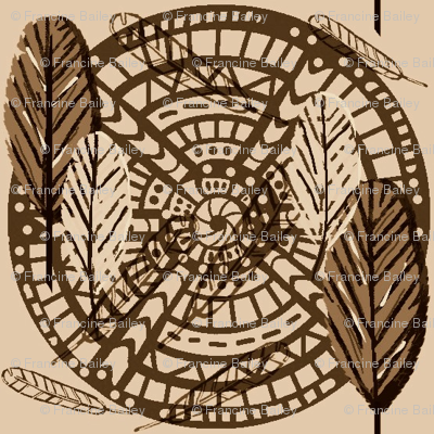 Boho Wild Feathers  / Neutral