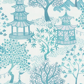 Pagoda Forest In Turquoise and Aqua