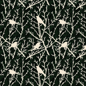 branchy birds - grass black//gray/cream