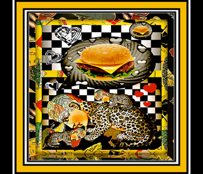 Haz chezburger now? fabric by whimzwhirled on Spoonflower - custom fabric